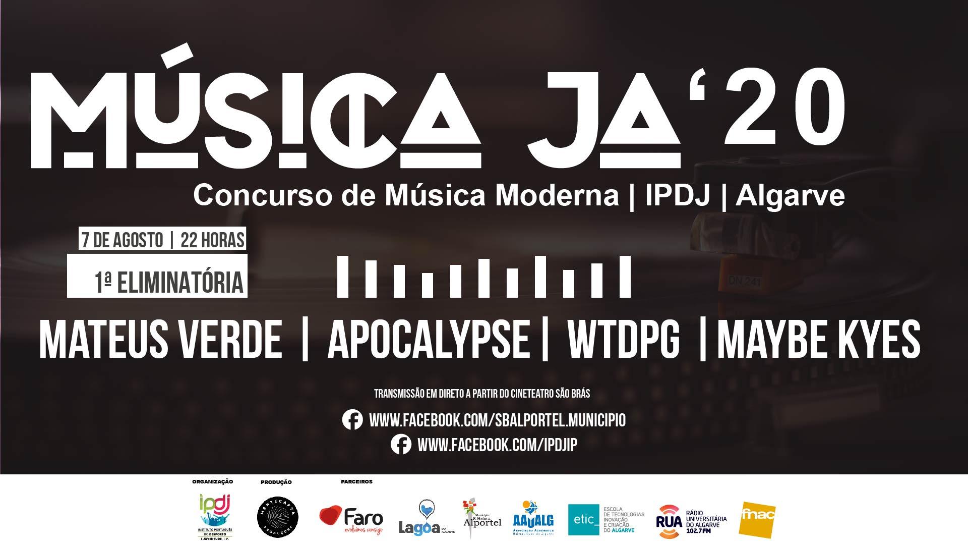 Primeira eliminatória do Música Já 2020 - Concurso de Música Moderna do Algarve