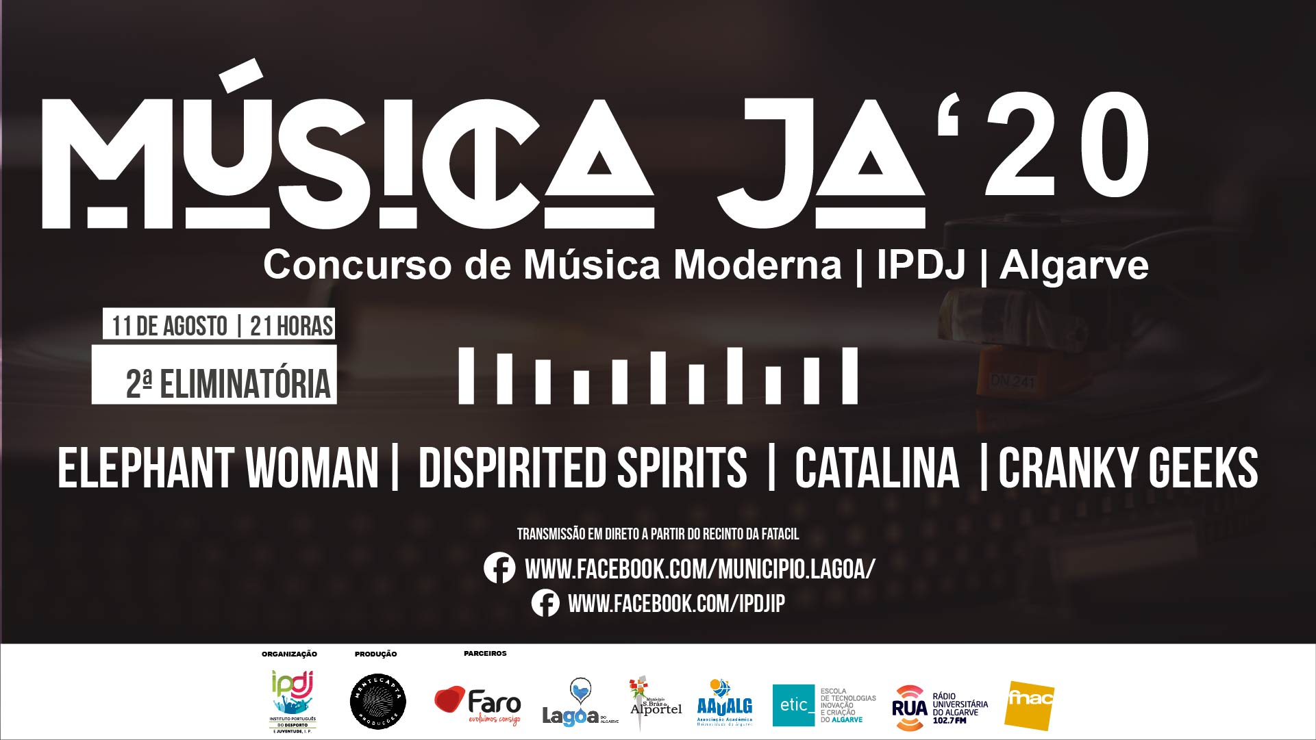 Segunda eliminatória do Música JA 2020 - Concurso de Música Moderna do Algarve