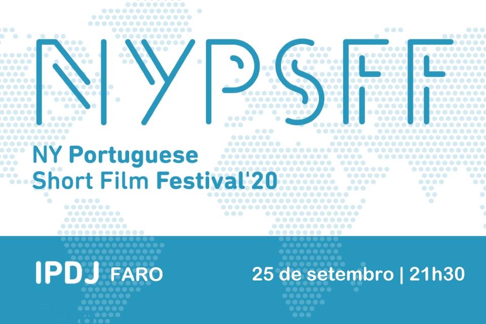 Cartaz do evento NY Portuguese Short Film Festival em Faro
