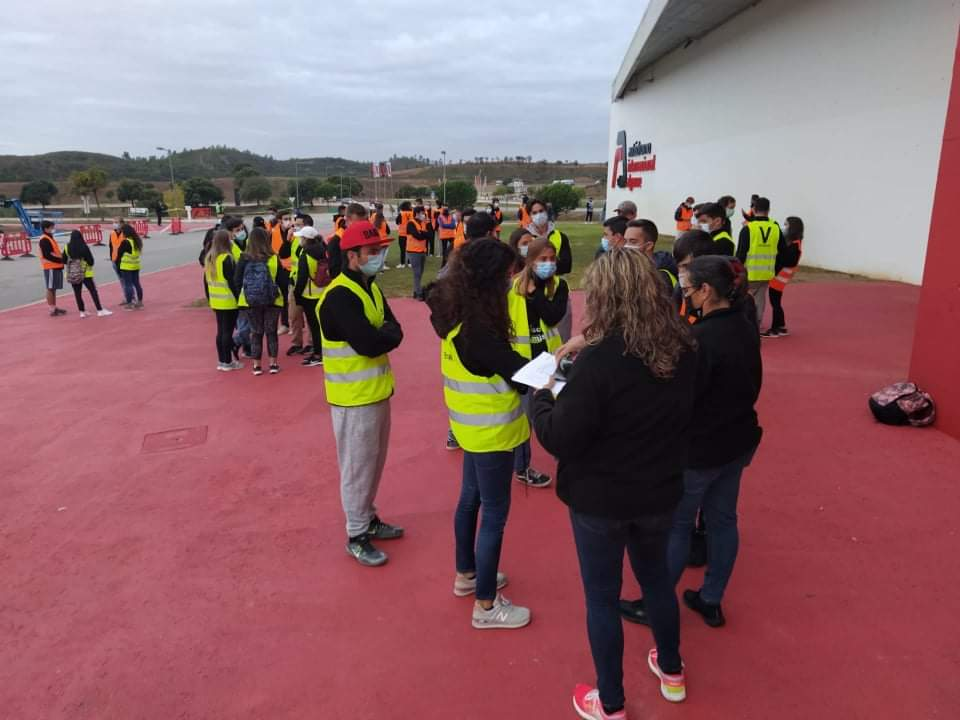 Foto de acolhimento dos voluntários