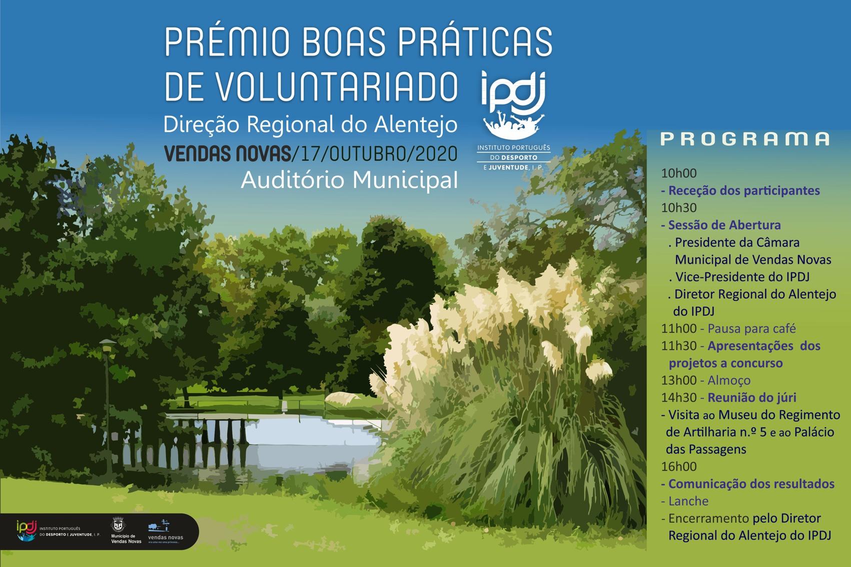 Imagem gráfica do evento com letering  Boas Praticas Alentejo