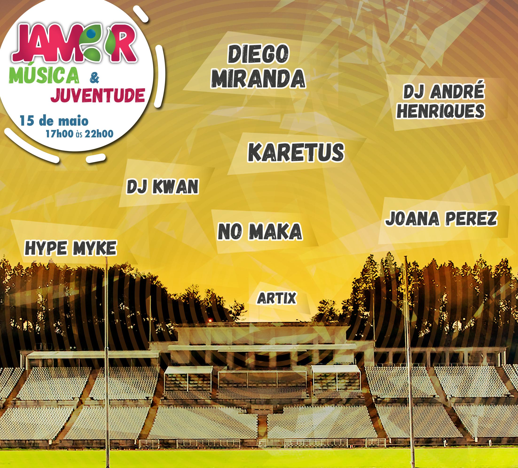 """cartaz do evento """"Jamor, música e juventude"""""""