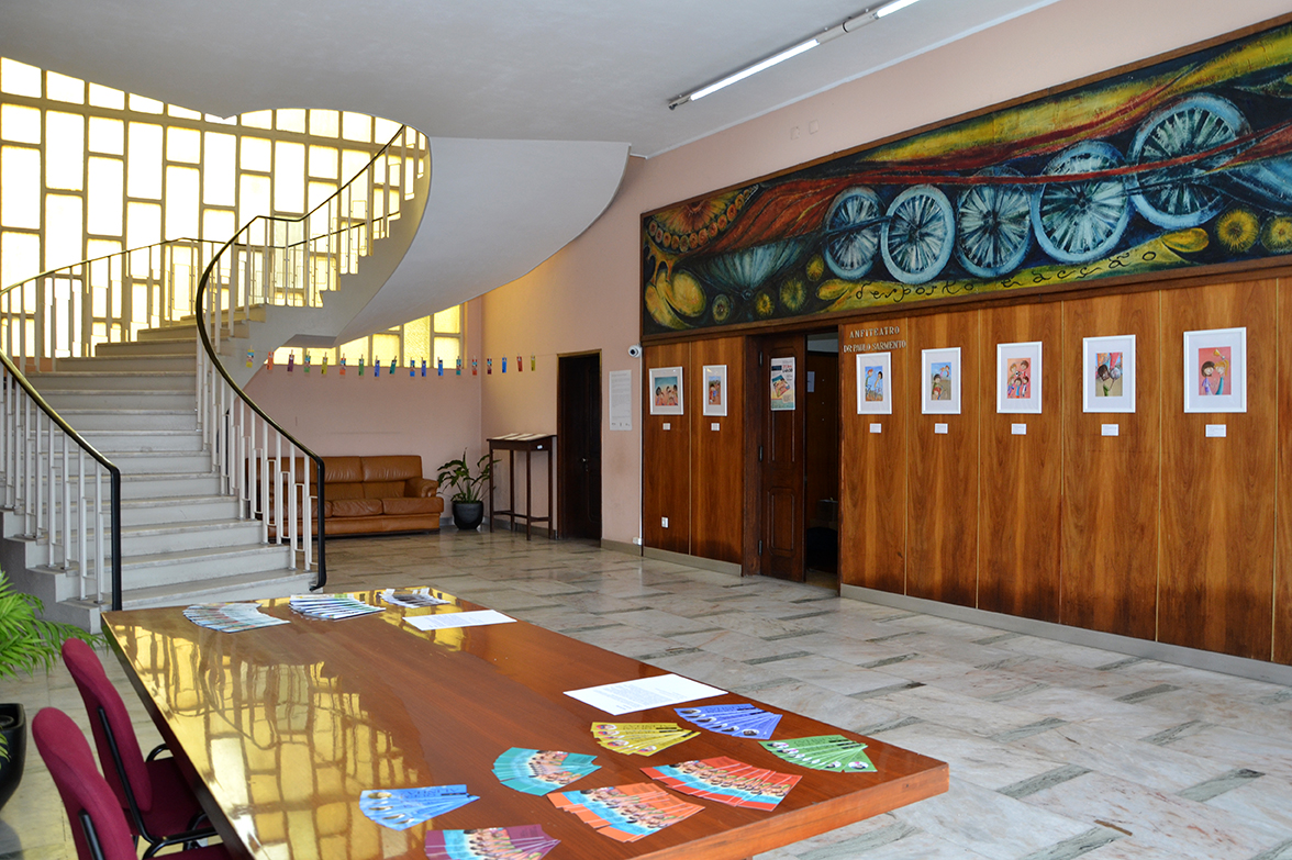 Hall de entrada da Casa do Desporto no Porto