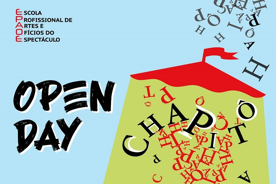 imagem gráfica open day do Chapitô
