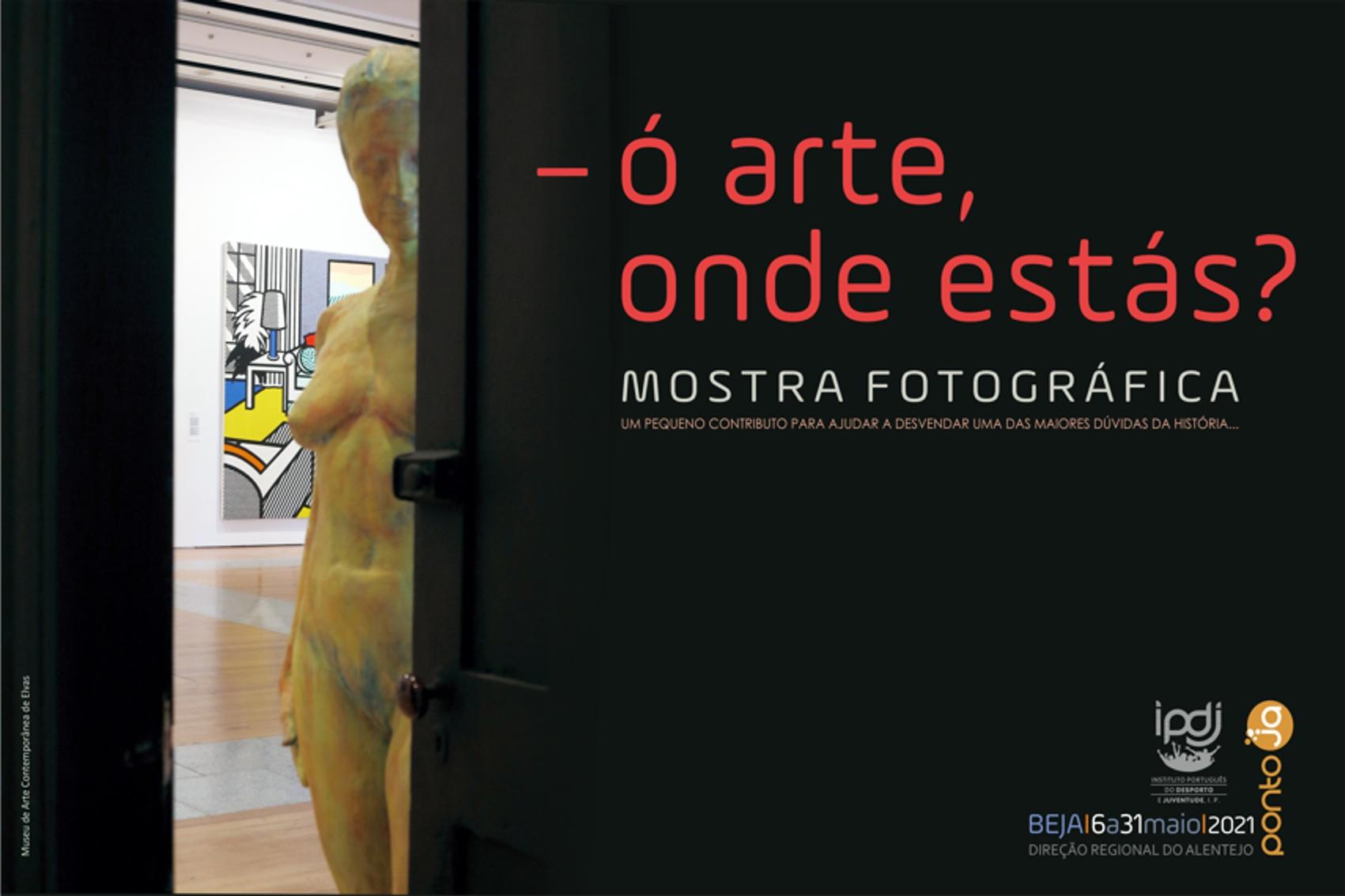 Imagem do cartaz sobre a exposição sobre arte
