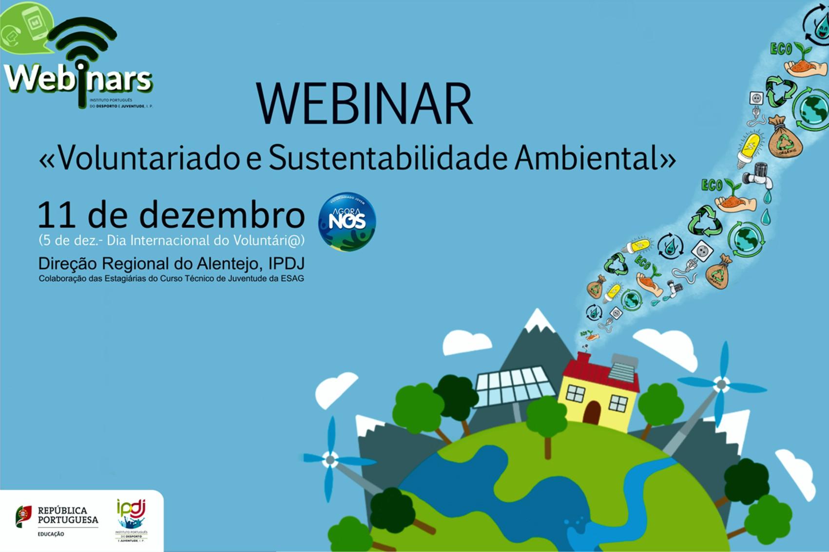 Cartaz com desenhos alusivos ao desenvolvimento sustentável