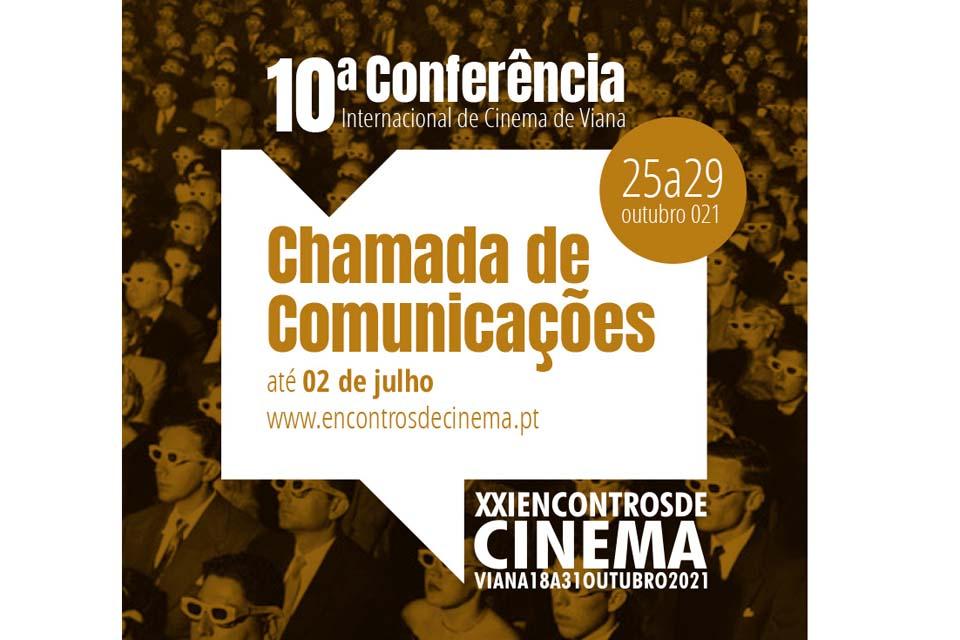 Cartaz com a imagem da 10.ª Conferência Internacional de Cinema de Viana