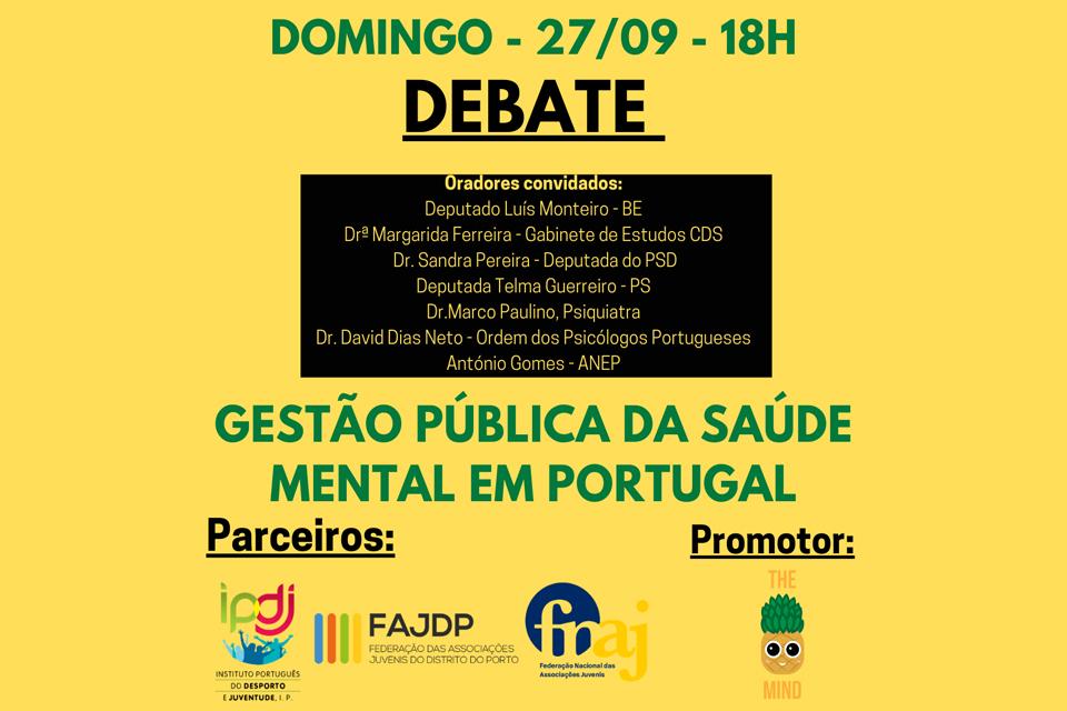 Imagem amarela com nome do evento e logos de entidades parceiras