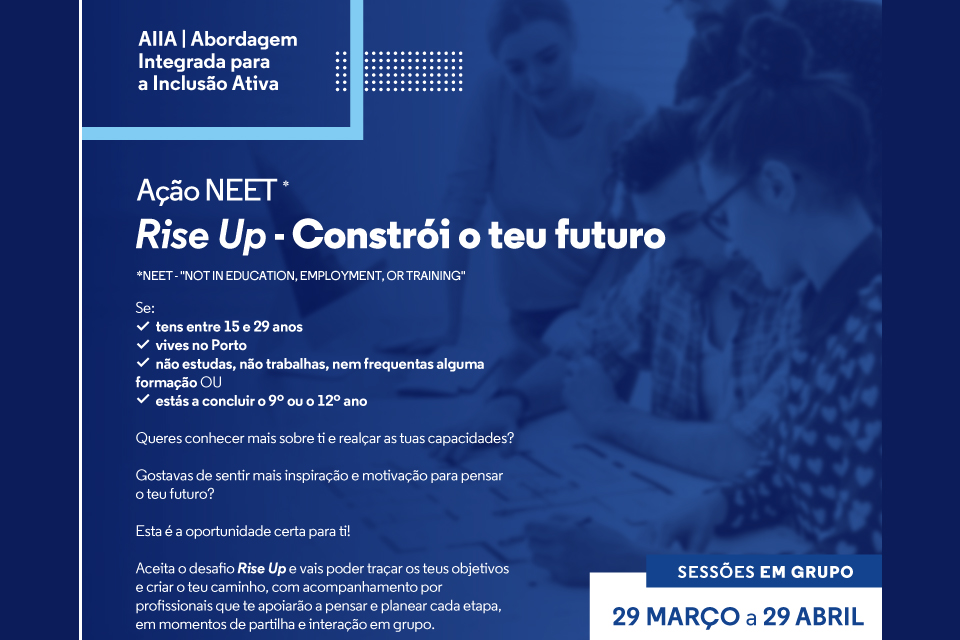 Cartaz Rise Up fundo azul