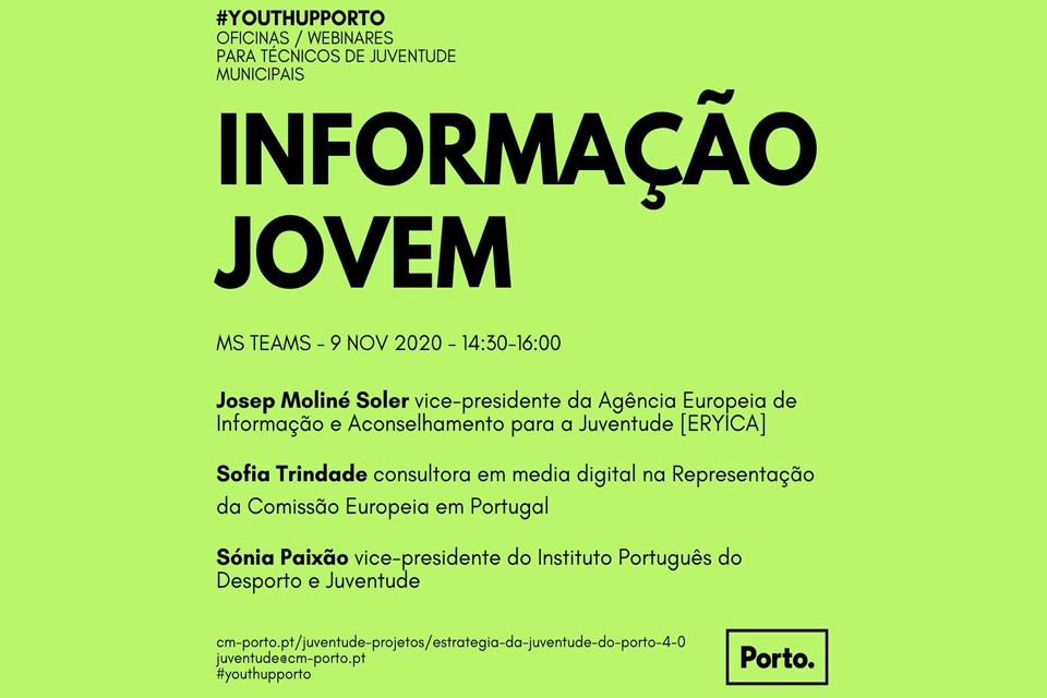 cartaz em fundo verde a divulgar YouthUpPorto