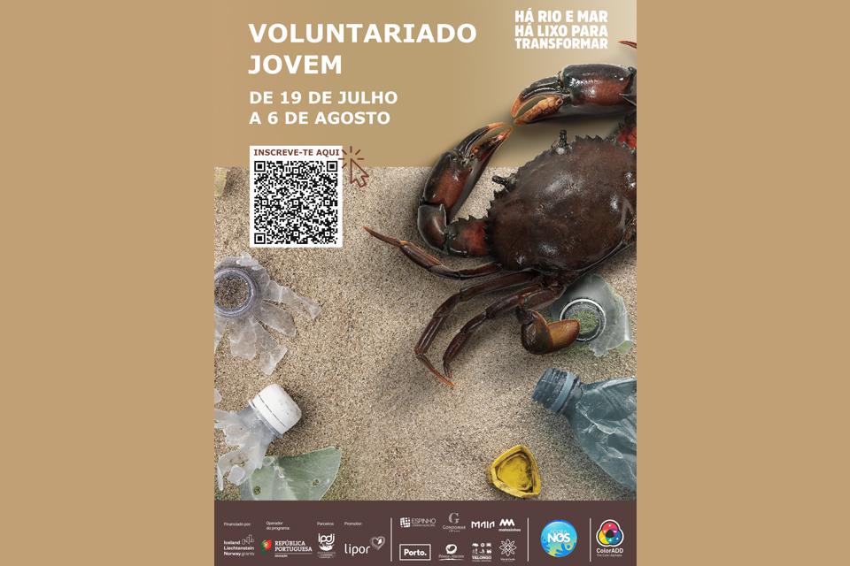 VOLUNTARIADO Há Rio e Mar, Há Lixo para Transformar de 19 de julho a 6 de agosto