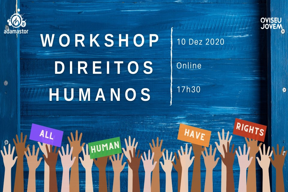 mãos levantadas com direitos humanos