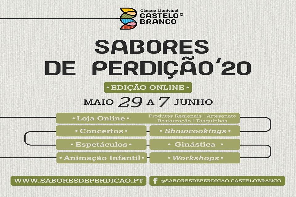 cartaz azul com o leterring das atividades da feira