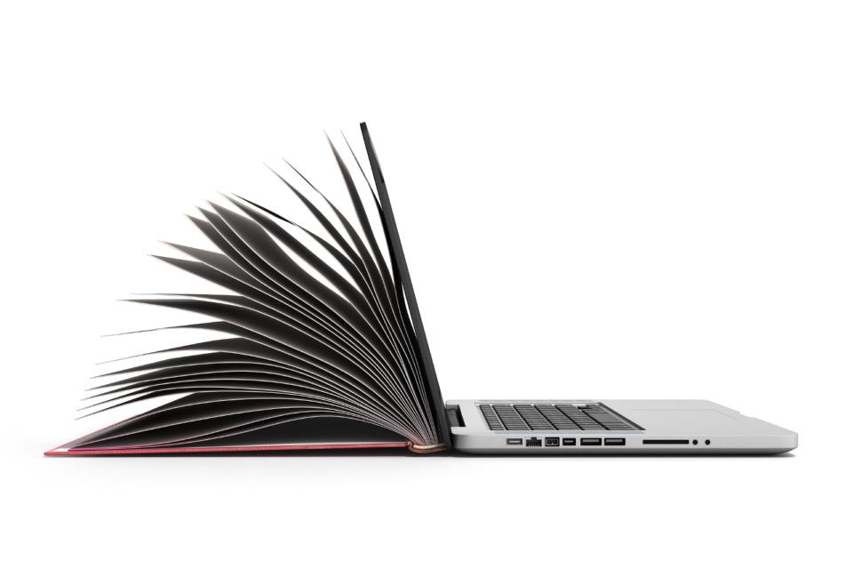 Imagem de computador como se fosse um livro