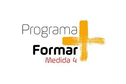 Imagem gráfica do logo Formar Mais em amarelo
