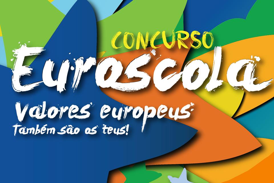 imagem do cartaz da edição 2020 do Euroscola com a inscrição do tema.