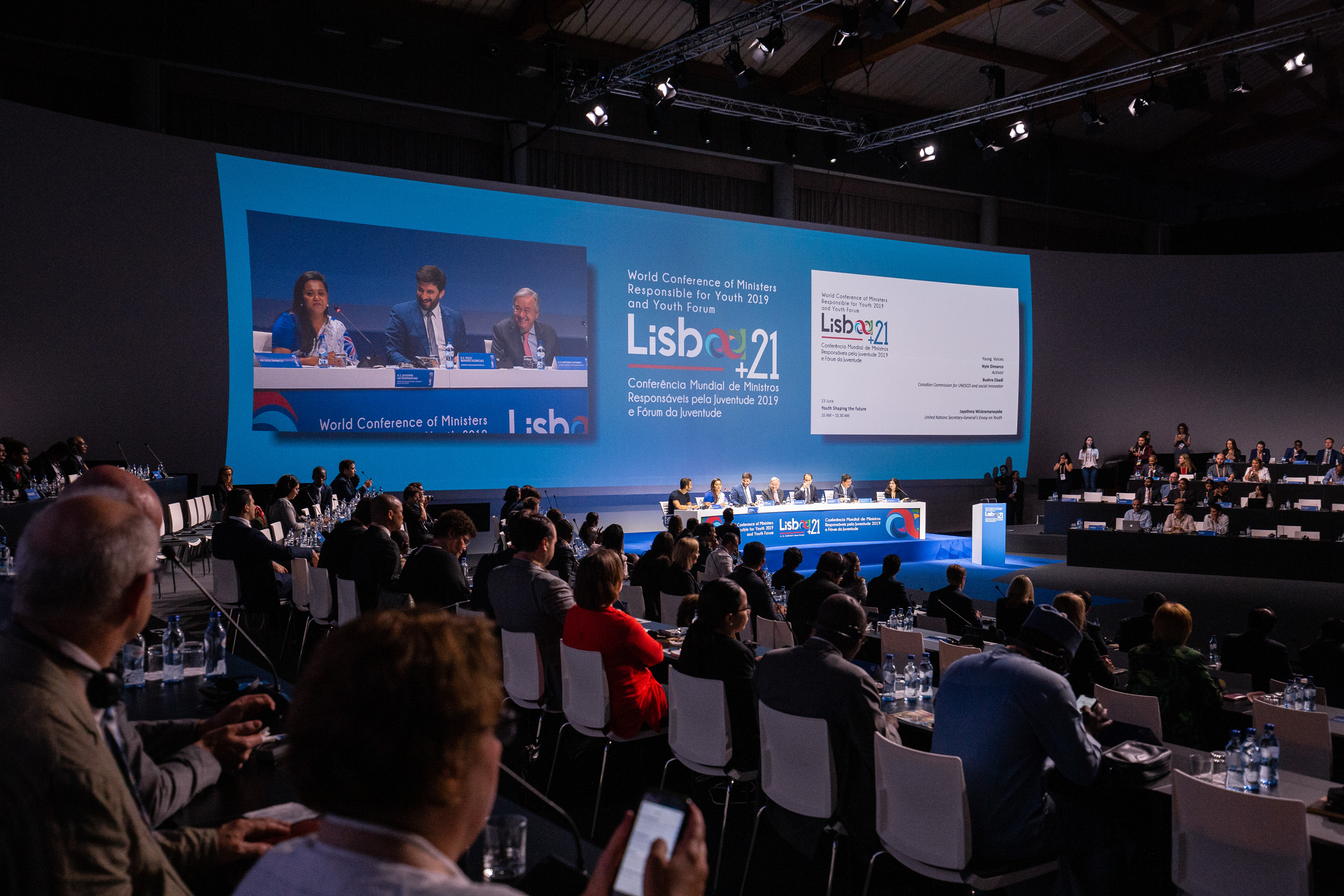 imagem da cerimónia de encerramento da conferência