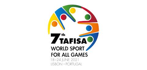 Logotipo dos sétimos Jogos Mundiais de Desporto para todos da Tafisa