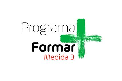Logotipo da medida 3 do Programa Formar+