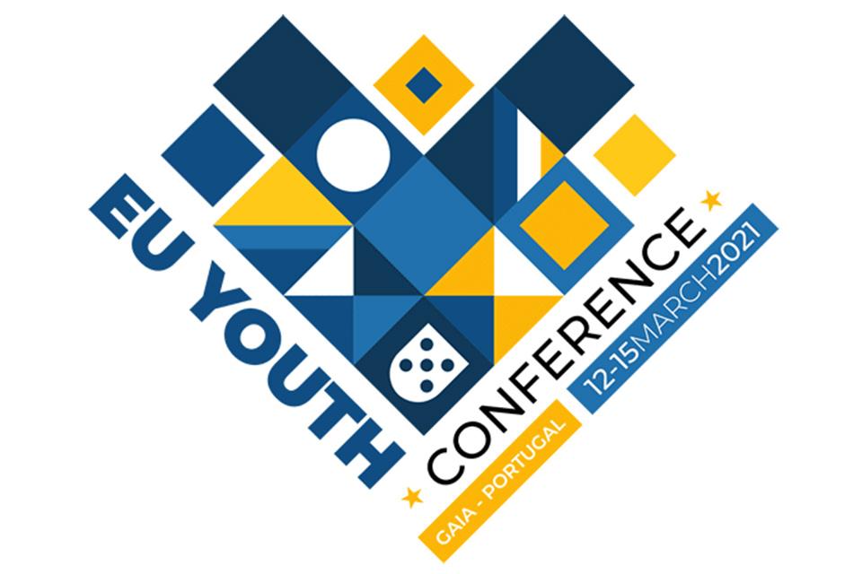 Logotipo da Conferência Europeia de Juventude - 12 a 15 de Março | Gaia