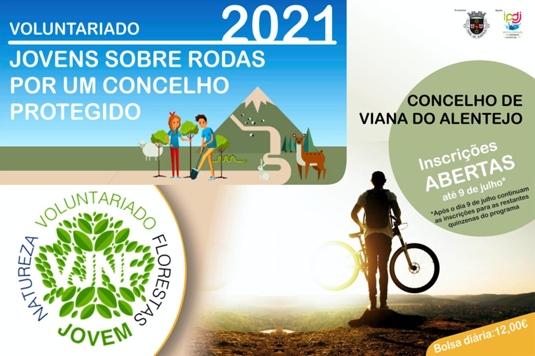Cartaz do projeto «Jovens sobre Rodas, por um Concelho Protegido»