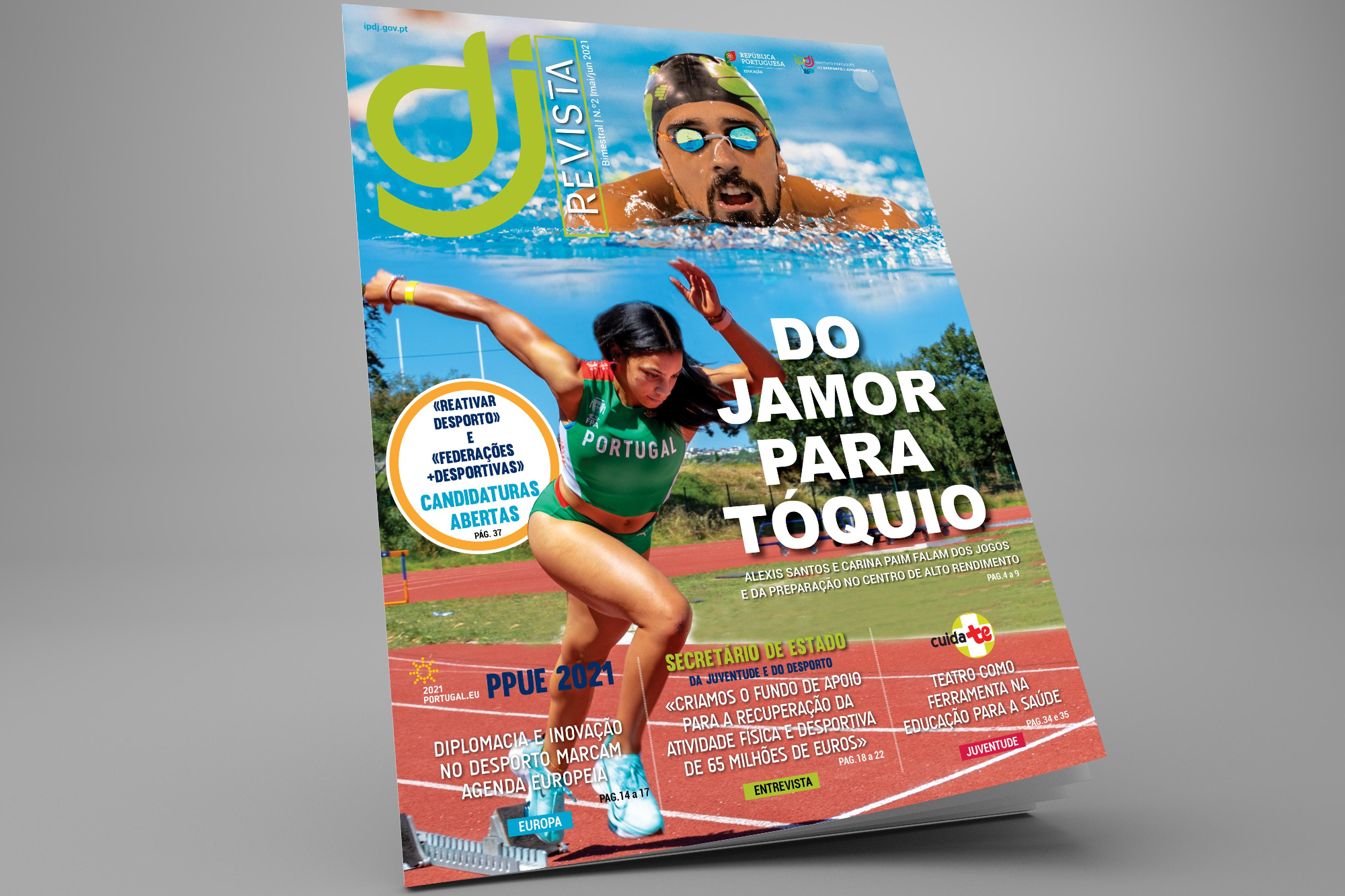 composição fotográfica com o nadador Alexis Santos e a atleta Carina Paim
